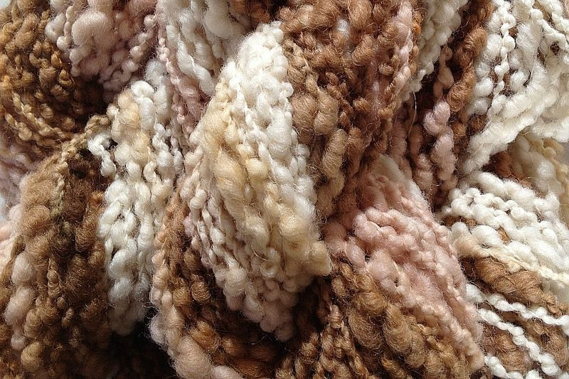 Rootbeer Float Hand Dyed Bumpy Merino Yarn Bulky Weight - product images  of