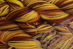 Marigold,Mama,Hand,Dyed,Merino,Wool,Worsted,Weight,Hand Dyed, Merino Wool Yarn, Worsted Weight, Orange Brown, Marigold Mama, Yellow, Yarn Shop, Craft Supplies, eweandmeyarns.com