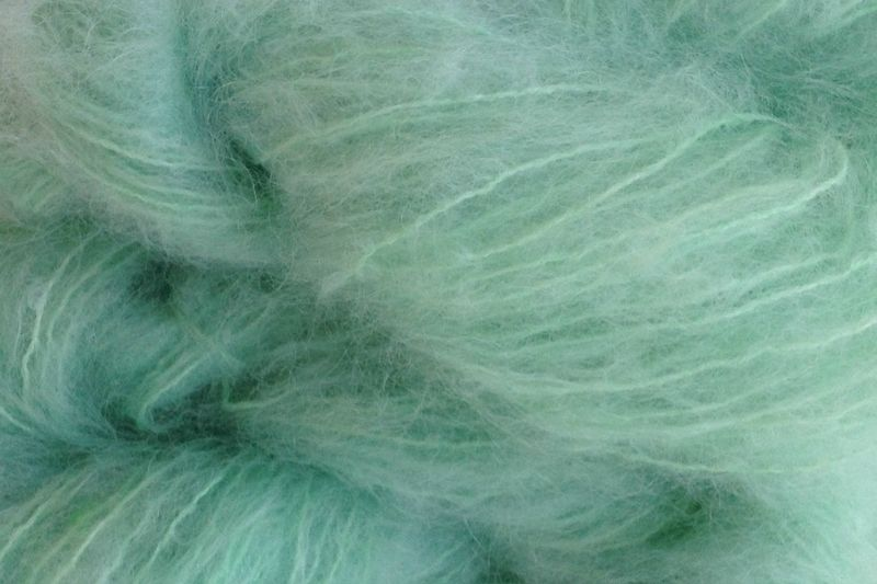 Glass Green Mohair Yarn Fingering Weight - product images  of