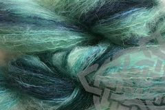 Beach,Glass,2oz,(60g),Mohair,Yarn,Fingering,Weight,Variegated Mohair Yarn, Fingering Weight Yarn, Waldorf Doll Hair, Mint Green, Mallard Green, Aqua, Beach Glass, Glass Green, 2 ounce, 60 grams, Large Skein Mohair, Hand Dyed, eweandmeyarns.com, South African Mohair