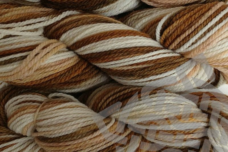 Rootbeer Float Hand Dyed Merino Yarn Worsted Weight - product images  of