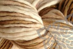 Rootbeer,Float,Hand,Dyed,Wool,Single,Ply,Bulky,#5 Bulky, Wool Yarn, Hand Dyed, Natural White Brown Tan, Pencil Roving, Single Ply Yarn, Root Beer Float, eweandmeyarns.com
