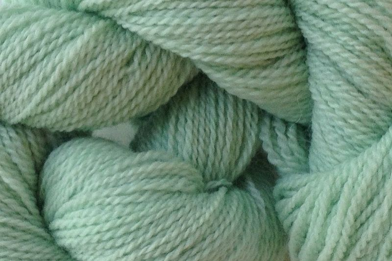 Glass Green Hand Dyed Merino Wool Yarn Lace Weight - product images  of