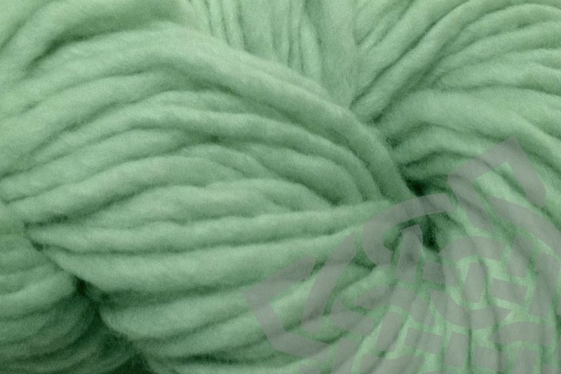 Glass Green Hand Dyed Wool Single Ply Bulky - product images  of