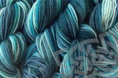 Beach Glass Hand Dyed Merino Wool Yarn DK / Sport Wt - product images  of