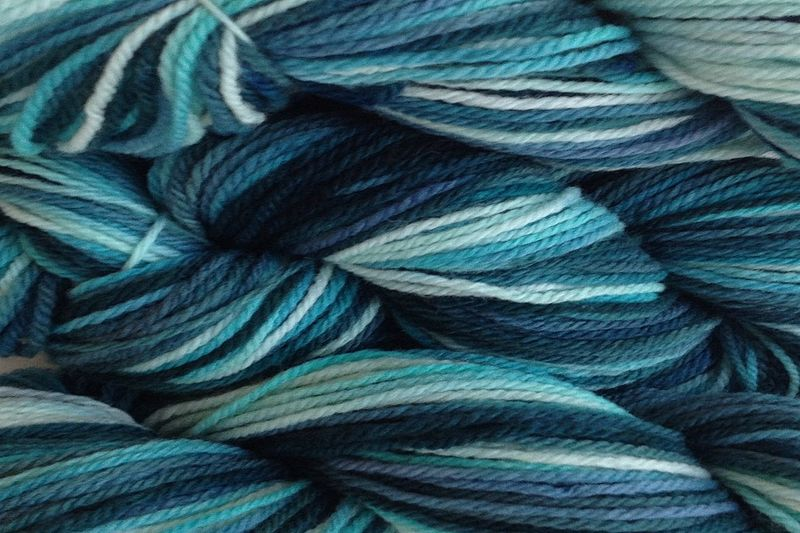 Beach Glass Hand Dyed Merino Wool Yarn Worsted Weight - product images  of