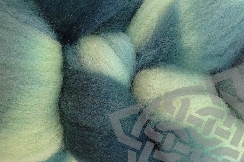 Beach Glass Hand Dyed Wool Roving - product images  of