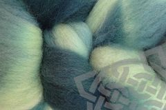 Beach,Glass,Hand,Dyed,Wool,Roving,Wool Roving Hand Dyed Mint Green Aqua Gray Mallard Green
