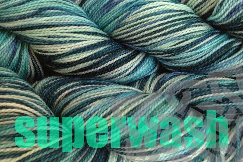Beach Glass Hand Dyed Fingering Weight - product images  of