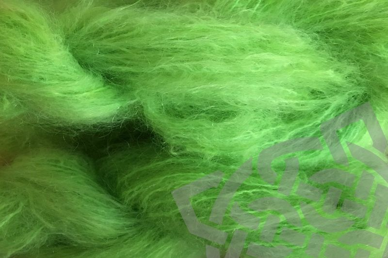 Acid Green 4oz (116g) Mohair Yarn Fingering Weight - product images  of