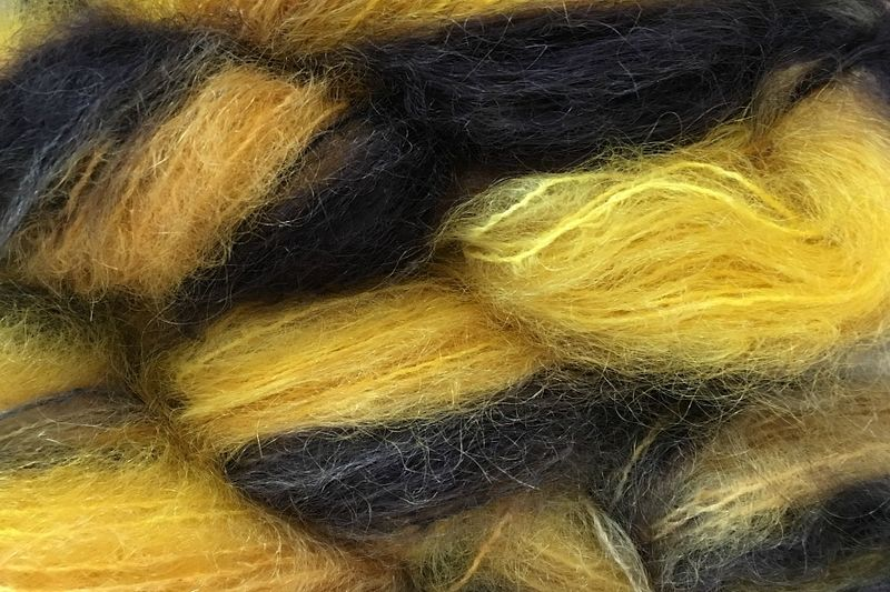 Taxi Cab 2oz (60g) Mohair Yarn Fingering Weight - product images  of