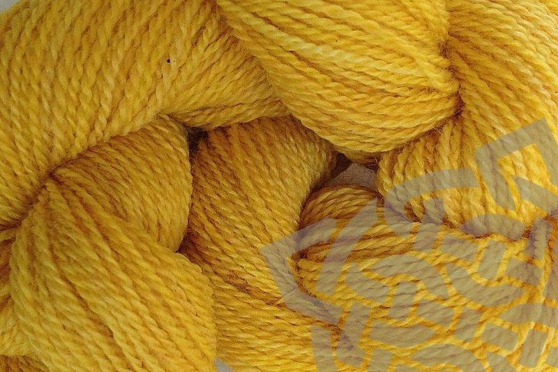 Cab Yellow Hand Dyed Merino Wool Yarn Lace Weight - product images  of
