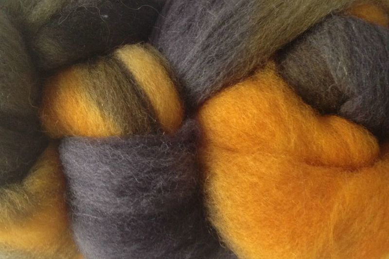 Taxi Cabs Hand Dyed Wool Roving - product images  of