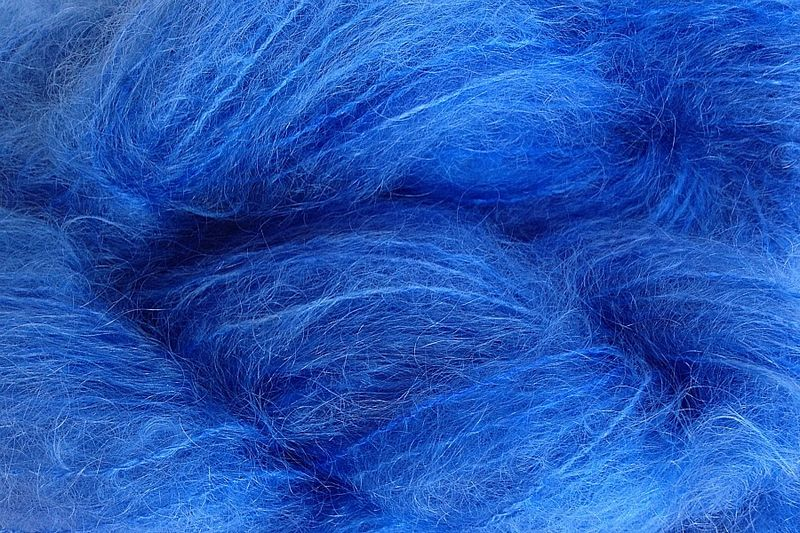 Cowboy Blue 4oz (116g) Mohair Yarn Fingering Weight - product images  of