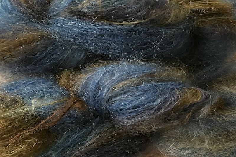 Indigo Cowboy 2oz (60g) Mohair Yarn Fingering Weight - product images  of