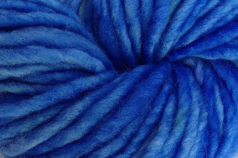 Cowboy Blue Hand Dyed Wool Yarn #5 Bulky - product images  of