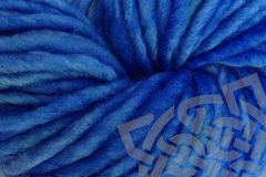 Cowboy,Blue,Hand,Dyed,Wool,Yarn,#5,Bulky,Hand Dyed, Merino Wool Yarn, Pencil Roving, Single Ply Yarn, #5 Bulky, Cowboy Blue, Single Ply Bulky Weight Yarn, Indigo Cowboy, eweandmeyarns