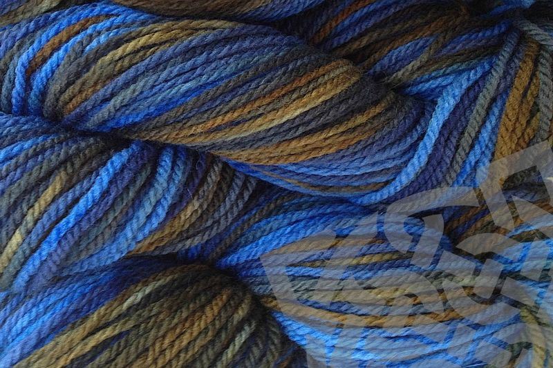 Indigo Cowboy Hand Dyed Merino Wool Worsted Weight - product images  of