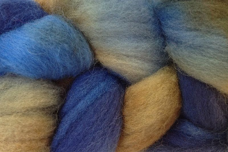 Indigo Cowboy Hand Dyed Wool Roving - product images  of