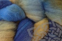 Indigo,Cowboy,Hand,Dyed,Wool,Roving,Wool Roving, Needle Felt Supplies, Hand Dyed, Indigo Cowboy, Cowboy Blue, Brown, eweandmeyarns.com