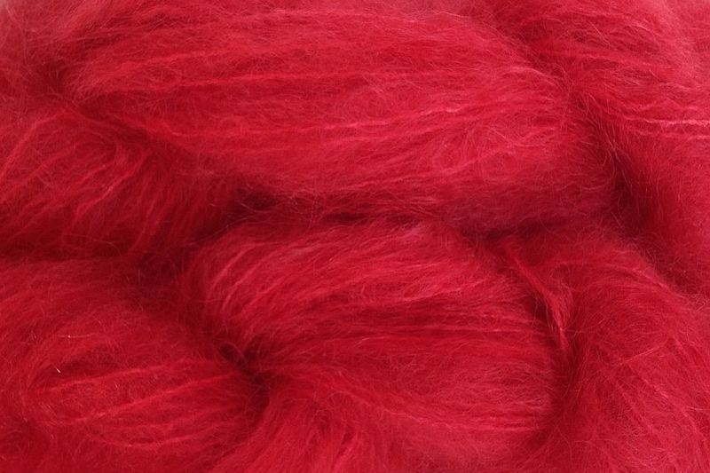 Strawberry Red 4oz (116g) Mohair Yarn Fingering Weight - product images  of