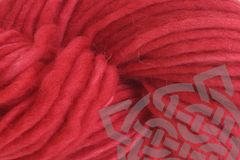Strawberry,Red,Hand,Dyed,Wool,Single,Ply,Yarn,Bulky,Hand Dyed, Merino Wool Yarn, #5 Bulky Yarn, Single Ply Yarn, Chunky Yarn, Pencil Roving, Quick Knit Yarn, Strawberry Red, Primary Red, Strawberry Fields, eweandmeyarns.com