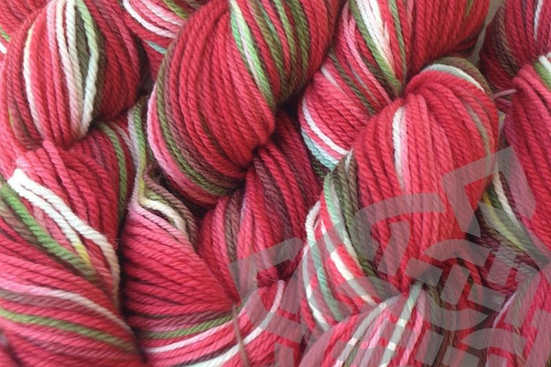 Strawberry Fields Dyed Merino Wool Yarn DK / Sport Weight - product images  of