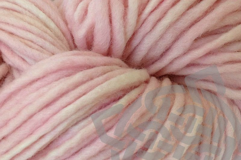Girlie Pink Hand Dyed Wool Pencil Roving - product images  of