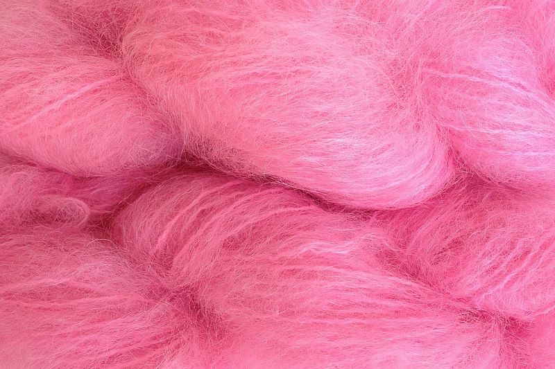 Too Pink 4oz (116g) Mohair Yarn Fingering Weight - product images  of