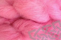Too,Pink,4oz,(116g),Mohair,Yarn,Fingering,Weight,Mohair Yarn, Fingering Weight Yarn, Waldorf Doll Hair, Bubble Gum Pink, Womens Movement Pink, Bright Pink, Too Pink, 4 ounce, 116 grams, Large Skein Mohair, Hand Dyed, eweandmeyarns.com