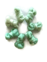 Glass,Green,Hand,Dyed,Wool,Roving,Set,Wool Roving, Gradient Roving Set, Needle Felt Roving, Hand Dyed, Glass Green, Beach Glass, Mint Green, eweandmeyarns.com, Roving Kit