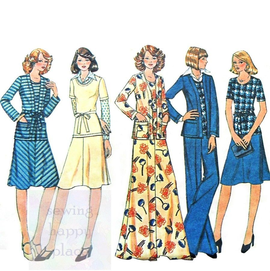 1970s style dress patterns