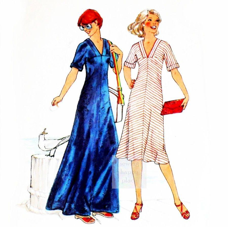 Stretch bias pullover maxi dress 1970s pattern v neck yoke stretch bias pullover maxi dress 1970s pattern v neck yoke sleeves cut as one jeuxipadfo Images