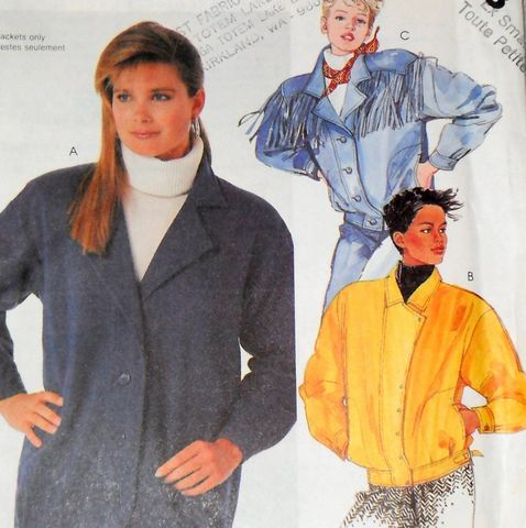 Jackets,for,Denim,or,Fleece,1980s,Pattern.,Moto,,Biker,,Western,Fringe,sewinghappyplace, Sewing Pattern, 80s, Jacket, Denim, Fleece, Moto, Biker Jacket, motorcycle Jacket, Western Fringe Jacket, mccalls 2763