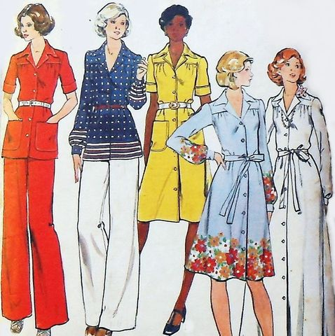 Semi,Fitted,Shirtdress,1970s,Pattern,Gown,sz,12,b34,Office,Evening,Butterick,4109,sewinghappyplace, Sewing Pattern, Vintage