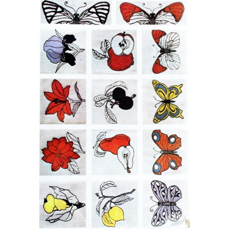 Butterflies Fruit Flowers. Transfers Sewing Machine Embroidery. Applique 60s Pattern. McCalls 8294 - product images  of