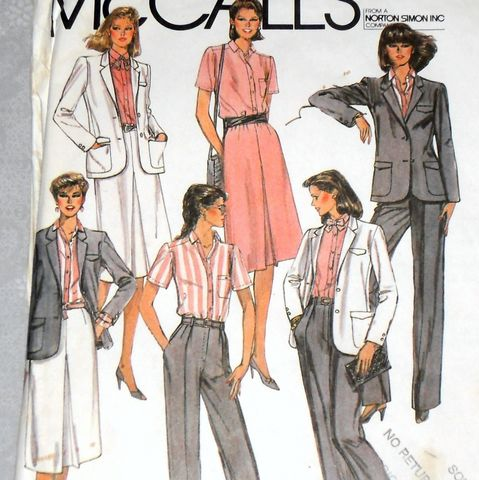 Designer,Suit,Separates,80s,Pattern.,Jones,New,York.,Elegant,Tailored.,sewinghappyplace, Sewing Pattern, Vintage