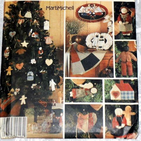 Homespun,Folk,Art,Christmas,Dec,Pattern,Marti,Mitchell,McCalls,2687.,Primitive.,sewinghappyplace, Sewing Pattern, Vintage