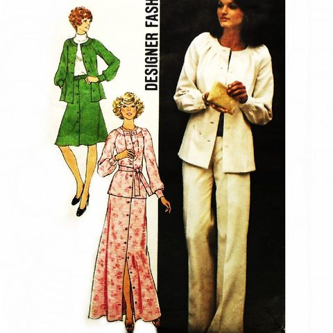 Top,Pants,Skirt.,1970s,Pattern.,Travel,Wardrobe.,Soft,Retro,Romantic,sewinghappyplace, Sewing Pattern, Vintage