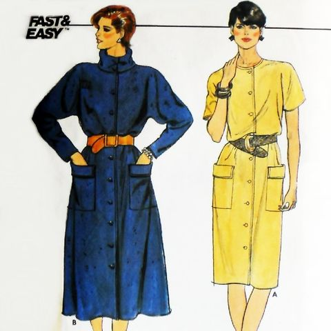 Blouson,Bodice,Dress.,1980s,Pattern.,Cowl,Neckline.,Kimono,Sleeves,sewinghappyplace, Sewing Pattern, Vintage