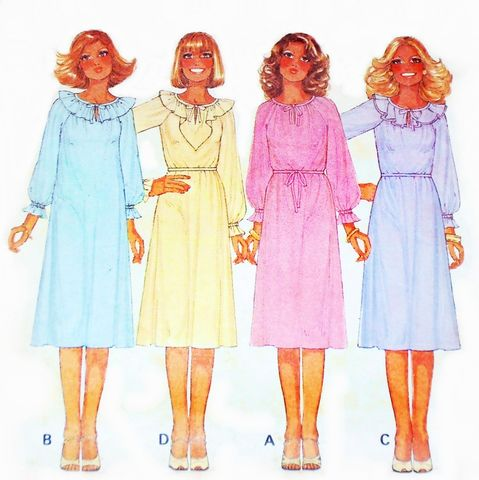 Flowy,Pullover,Dress,or,Top,Peasant,Neckline,1970s,Pattern,Boho,Retro,sewinghappyplace, Sewing Pattern, Vintage