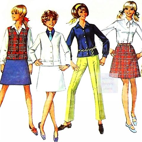 Preppy,Junior,Separates.,1960s,Pattern.,Jacket,w,skinny,belt.,Cigarette,Pants.,sewinghappyplace, Sewing Pattern, Vintage