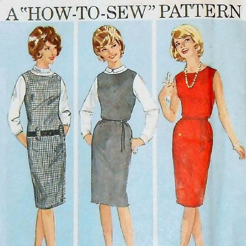 Junior,Dress,Jumper,1960s,Patter.,Mad,Men,era.,Slim,Wiggle,Skirt.,sewinghappyplace, Sewing Pattern, Vintage