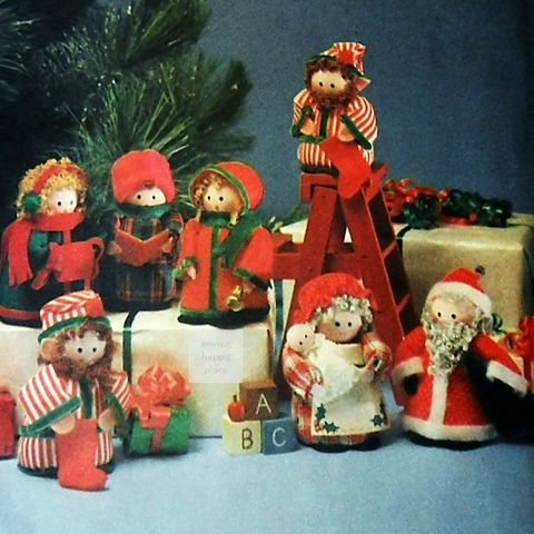 Santa,Mrs,Claus,Elves,Carolers,Christmas,Craft,Pattern,Brillo,Beard,sewinghappyplace, Sewing Pattern, Vintage