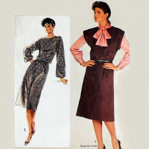Dress,Jumper,1980s,Pattern.,Pullover.,Drop,Shoulder,Kimono,Sleeves.,sewinghappyplace, Sewing Pattern, Vintage