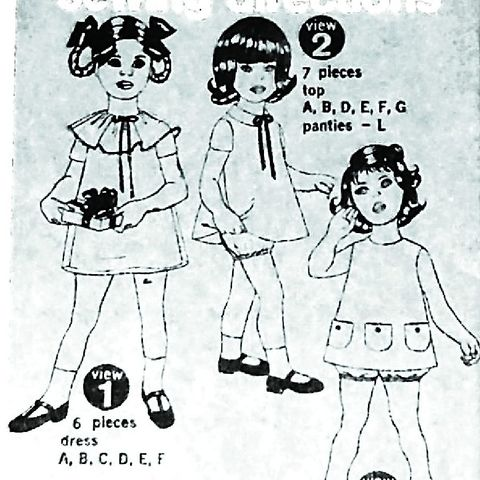 Toddler,Girls,Dress,Tunic,Bloomers,1970s,Pattern.,Pockets/,Uncut.,sewinghappyplace, Sewing Pattern, Vintage