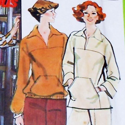 Casual,Top,Pants.,1970s,Pattern.,Comfy,Sweatshirt,Styling.,Hand,Warmer,Pocket.,sewinghappyplace, Sewing Pattern, Vintage