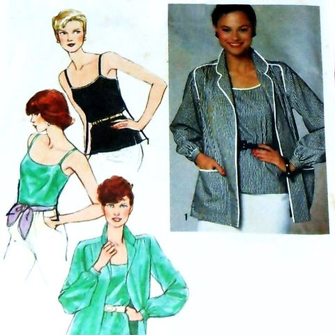 Elegant,Basics/,Blouse,Camisole/,1970s,Pattern,sewinghappyplace, Sewing Pattern, Vintage