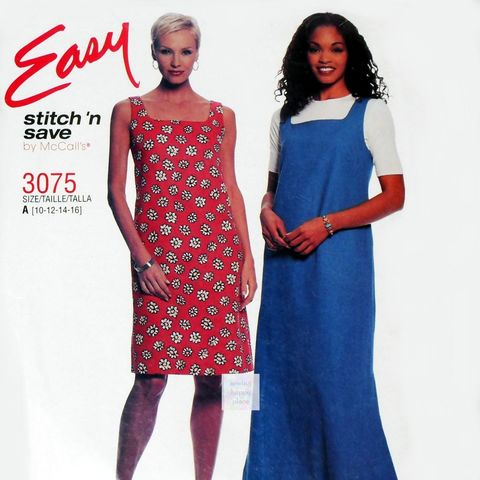 Dress,Jumper,Pattern.,Square,Neckline.,Maxi,Mini.,Easy,Sun,Dress.,sewinghappyplace, Sewing Pattern, Vintage