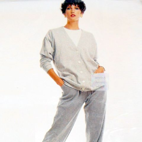 Comfort,Wear,Knits,Cardigan,Pants,1980s,Pattern.,Easy,Sew.,Travel,or,Career.,McCalls,4623,sewinghappyplace, Sewing Pattern, Vintage